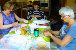 Maggie, Rosemary & June - pre-stall working bee