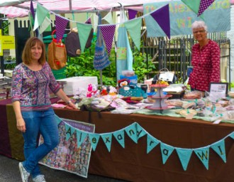 Jayne and June on the stall