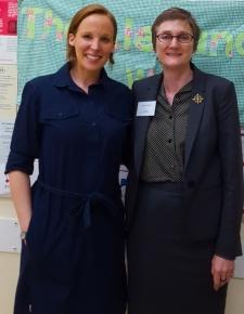 Miranda Ballard and The Alexandra WI President Emma Watson.